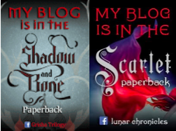 My blog is in the Shadow and Bone paperback