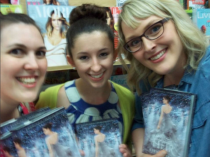 Me, Brianne, and Jaimie at The Heir signing.